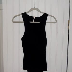 Free People Black Tank with open back (NEVER WORN)